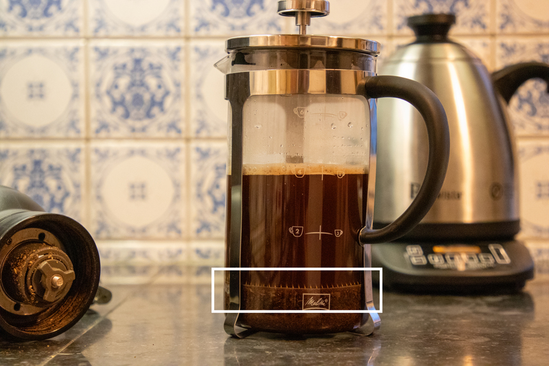 French press: koffie klaar