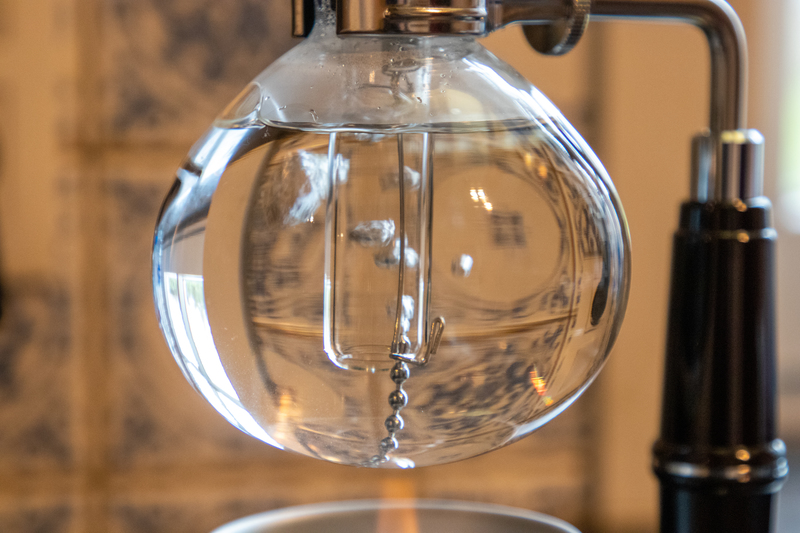 Syphon kokend water