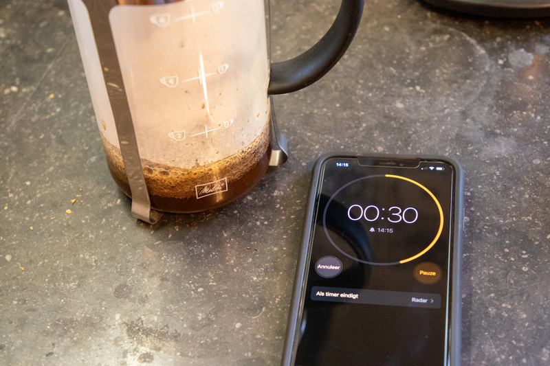 French press: pre-infusie timing